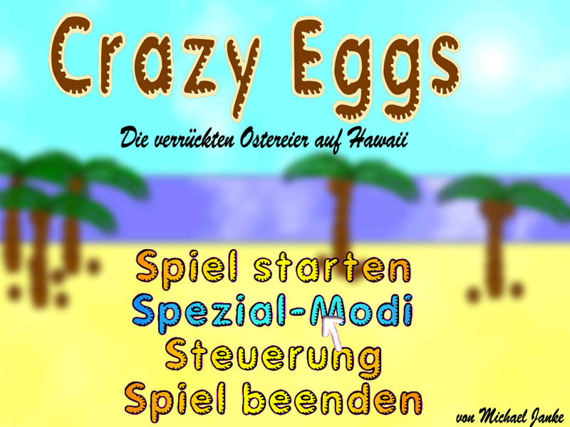 Crazy Eggs Startbildschirm