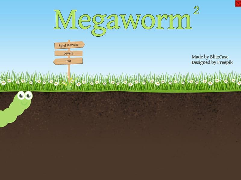 Megaworm 2 Startbildschirm